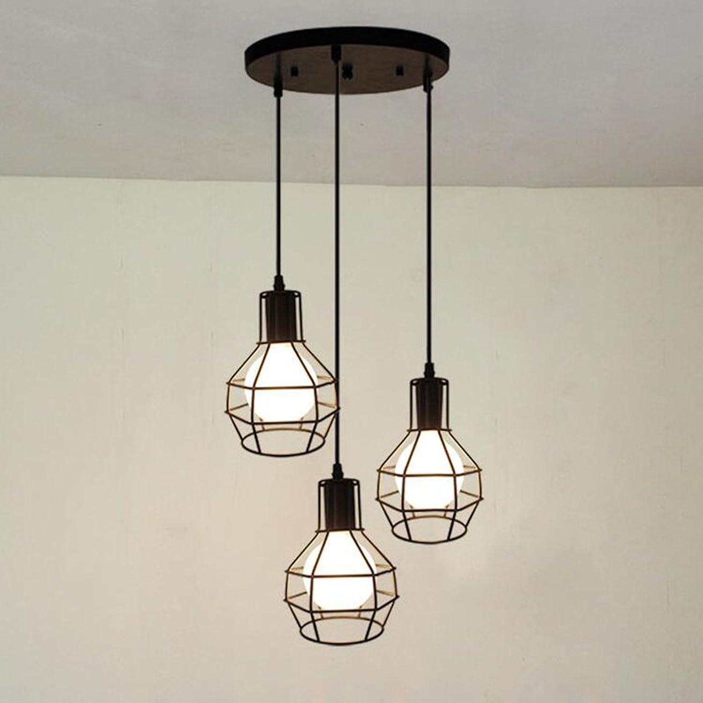Eclairage lumière 3 Decoratif Industriel Rétro Cage Style