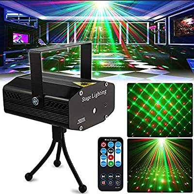 Party Light Disco DJ Lights SPOOBOOLA Stage Lights Projector Mini Auto Flash Sound Activated with Remote Control for Dancing Thanksgiving KTV Bar Birthday
