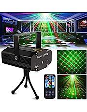 Party lampa disco DJ lampor SPOOBOOLA scenlampor projektor mini auto blixt ljud aktiverad med fjärrkontroll för dans tacksägelse KTV bar födelsedag