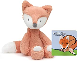 """GUND Baby Toothpick Plush Stuffed Fox, 12"""", Multicolor Gift Set with Finger Puppet Board Book"""