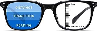 NOVIVON Progressive Reading Glasses, Lightweight Blue Light Blocking Readers, Filter UV Ray Eyeglasses Women/Men