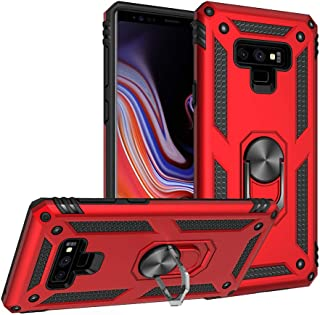 Compatible with Samsung Galaxy Note 9 Case Magnetic Ring Holder Stand Kickstand Protective for Note 9 Cover Dual Layer Anti-Scratch Armor Case for Samsung Galaxy Note 9 (2018) (Red, Note9)