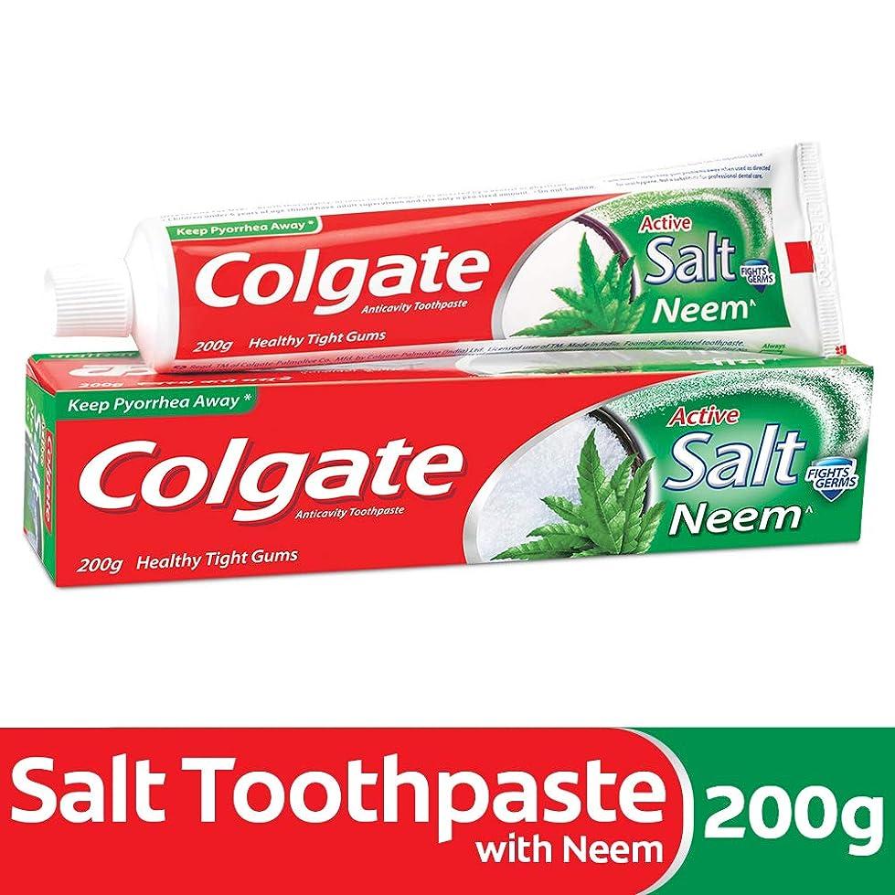 狂う遊びますに沿ってColgate Active Salt Neem Anticavity Toothpaste - 200g