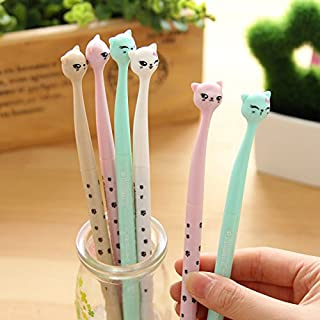 MLM Cute Cartoon Bedroom Eyes Cat Gel Ink Pen Rollerball Pens (bedroom eye cat 8 Pens)