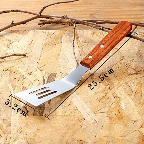 Kookspatel Teppanyaki roestvrijstalen steak spatel Gebakken ijs spatel Steak steak spatel Pizza frituur spatel Handgrijper cake tool-Troffel van roestvrij staal