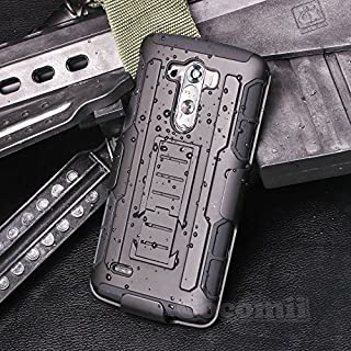 Cocomii Robot Armor LG G3 Case New [Heavy Duty] Premium Belt Clip Holster Kickstand Shockproof Hard Bumper Shell [Military Defender] Full Body Dual Layer Rugged Cover for LG G3 (R.Black)