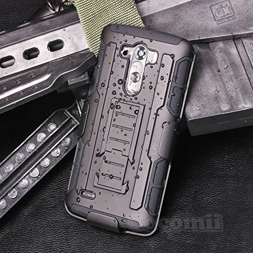Cocomii Robot Belt Clip Holster LG G3 Case, Slim Thin Matte Kickstand Swivel Belt Clip Holster Reinforced Drop Protection Fashion Phone Case Bumper Cover for LG G3 (Black)
