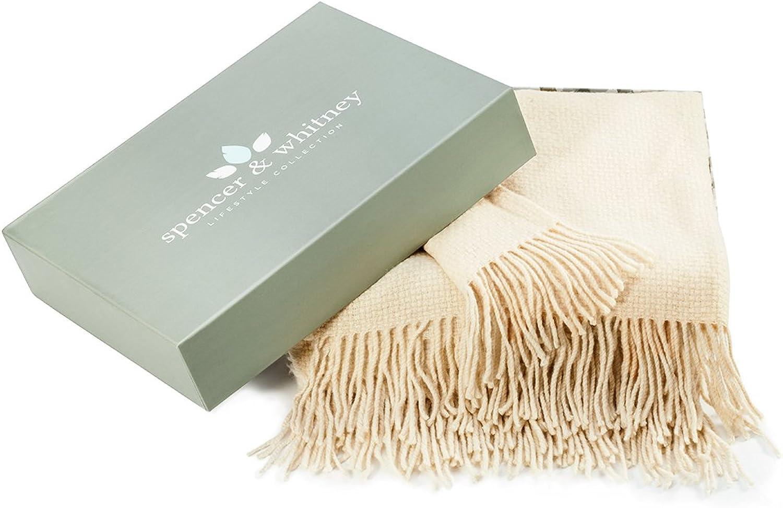Spencer&whitney Bed Throw Blanket Wool Blanket Australian Wool Throws Blanket Cashmere Blankets Wool Shawl Wrap Wool Throw Blanket Throws