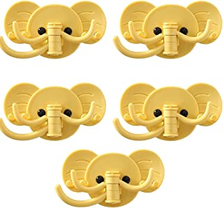 Adhesive Hooks Wall-mounted Cute Cartoon Hook, Creative Elephant Strong Viscose, Creative Kitchen Seamless Multi-function ...