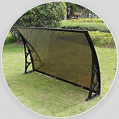 LXXL Door Window Door Awning, Door Canopy,Window Canopy Awning,Sun Rain Shelter Roofing Canopie,Sun Shade Door Patio Cover,UV Protection Shade Cover,12 Sizes Choose (Size : 60×60×19cm)