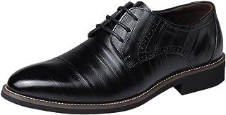 Florrita ビジネスシューズ 革靴 レースアップ メンズ 軽量 ウォーキングシューズ 通気性 防水 防滑 シューズ 柔らかい 高級靴 オフィス オックスフォードシューズ 紳士靴 就職 結婚式 面接 通勤 普段用 冠婚葬祭 オールシーズン