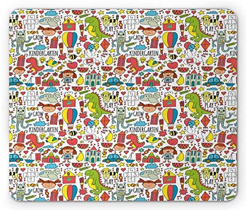 Mouse Pad Cartoon Dinosaurier Wassermelone Roboter Kindergarten Schriftzug Bonbons Kleines Mädchen Katze Drachen Weiße Maus Matte Rechteck Angepasstes Spiel Rutschfester Gummi 25X
