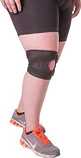 BraceAbility Plus Size Patellar Tracking Short Knee Brace | XXL Walking & Exercise Support Sleeve Stabilizer for Post Kneecap Dislocation, Tendonitis, Patellofemoral Pain & Arthritis (2XL)