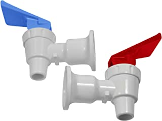 OCSParts RB217 Sunbeam Water Cooler Faucet, Tomlinson Blue and Red Handle, Combo Pack (Pack of 2)