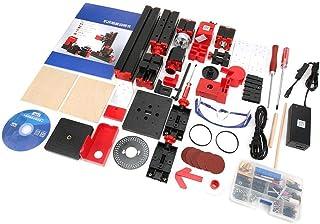 【𝐁𝐥𝐚𝐜𝐤 𝐅𝐫𝐢𝐝𝐚𝒚 𝐒𝐚𝐥𝐞】8 in 1ミニ旋盤マシンキット、便利な優れた加工ミニ電動旋盤マシン、家族向けの木工モデルはエアロモデルを作ります