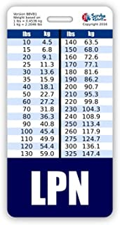 LPN Badge Buddy Vertical w/ Height & Weight Conversion Charts (Navy Blue)