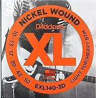 D'Addario EXL140-3D エレキギター弦 3セットパック×2セット
