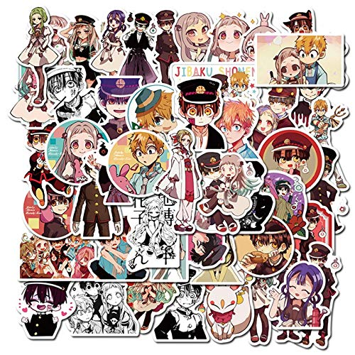 YZFCL Nuevo Anime Atado a la Flor Juvenil Jun Maleta portátil Impermeable Graffiti Pegatina 50 Uds