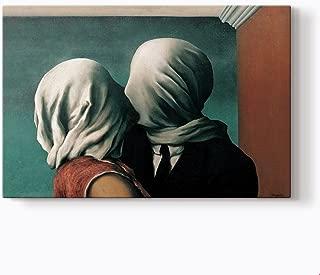 PlusCanvas - Lovers - Rene Magritte - 75 x 50cm (30