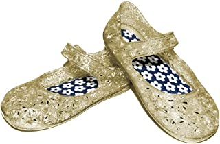 Clear Jelly Sandals Shoes Girls Infant Toddler Mary Jane Style Glitter sz 4