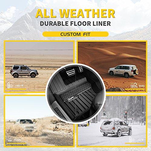 3WFloorMatsCompatible for Range Rover Velar 2017-2021 TPEAllWeatherCustomFitFloorLinerfor Range Rover Velar1stand2ndRowFullSet CarLiners Black