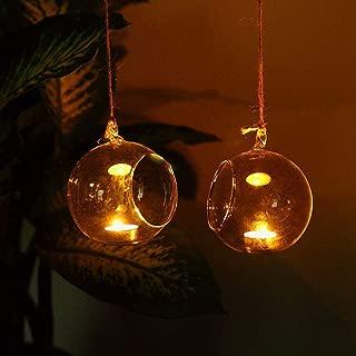 Garden Decoration 12pcs Hanging Tealight Holder Glass Globes Plant Terrarium, Wedding Candle Holder Candlestick