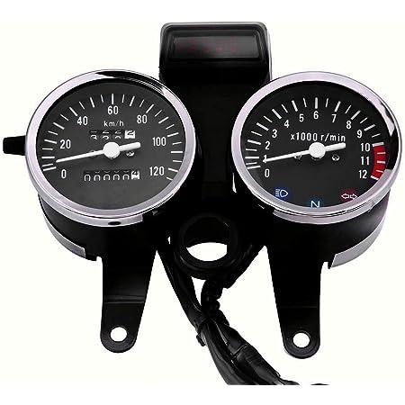 Dlll Motorrad Tachometer Digital 2 In 1 Modifizierte Motorrad Kilometerzähler Geschwindigkeit 12 V Universaltisch Kilometer Led Tisch Retro Meter Auto