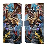 Official Anne Stokes Clan Dragons 4 Leather Book Wallet