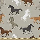 ABAKUHAUS Pferde Stoff als Meterware, Hengst-galoppierendes