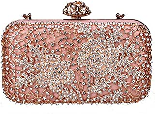 TOOGOO Luxury Evening Clutch Bag Women's Tote Shiny Chain Shoulder Messenger Bag Lady Party Bag White