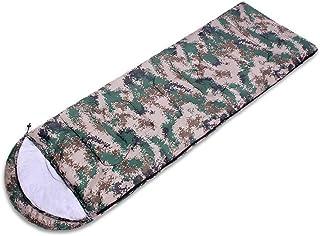 RFVBNM Outdoor supplies thickening digital camouflage sleeping bag camping envelope type spring sleeping bag