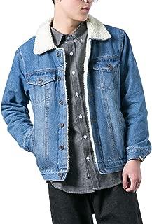 mens light blue denim jacket with fur collar