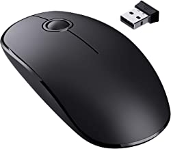 VicTsing [Upgraded] Slim Wireless Mouse, 2.4G Silent Laptop Mouse- Enjoy Noiseless Clicking, 1600DPI High Accuracy Portable Ergonomic Optical Wireless Mouse for Laptop, PC, Computer, Notebook, Mac