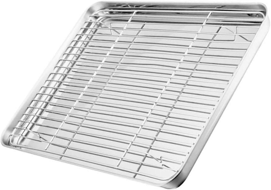 Hemoton Sheet Baking Pan Bakeable Cooling Metal New Free Shipping wholesale Rack Co Nonstick