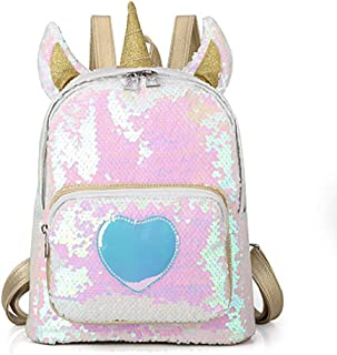 Starte Toddler Backpack Unicorn School Backpack for Girls Sequin School Bag Purse Daybacks