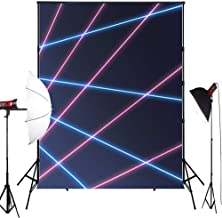 MUZI Photography Backdrops for Laser line Baby Custom Interior Photobooth Background for Studio Props Photo Backdrop 7x5ft XT-5310