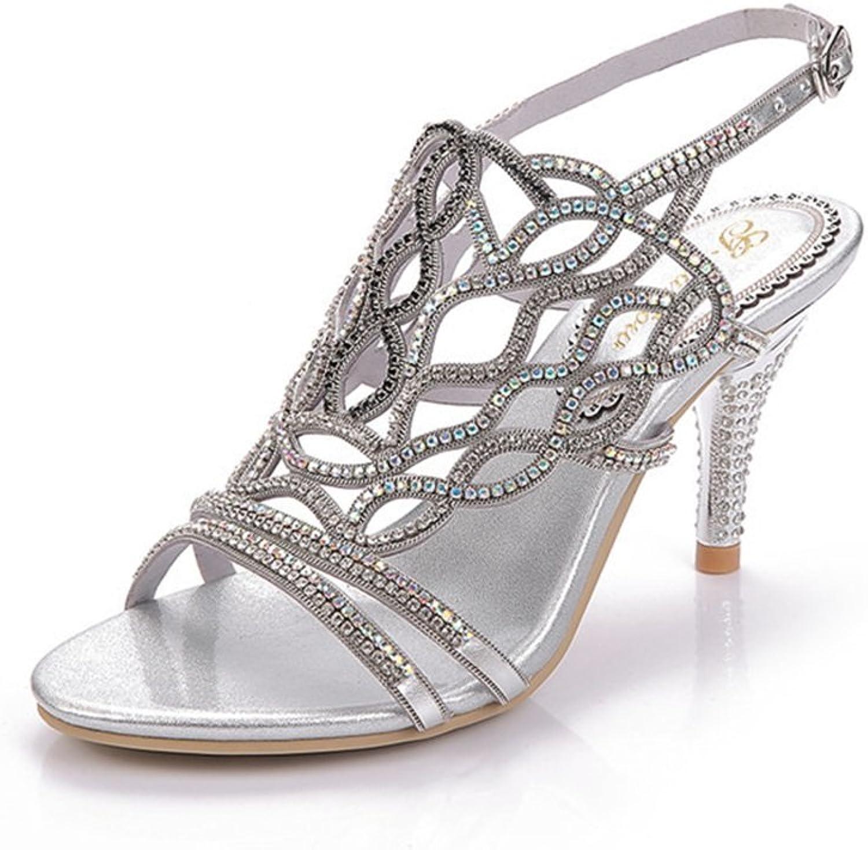 Kvinnliga skor Mikrofiber vårsommarsandaler Stiletto Heel Round Round Round Toe Zipper for bröllop Party och Evening Dress  nyhetsartiklar