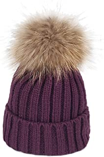 xsby Knitted Cozy Warm Winter Snowboarding Ski Hat with Pom Pom Slouchy Hat