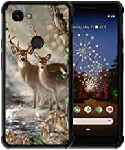 for Google Pixel 3a XL Case Vector Forest Deer Pattern, ABLOOMBOX Slim Thin Anti-Scratch Flexible Bumper Case with Reinforced Corner for Google Pixel 3a XL Phone Case (2019)