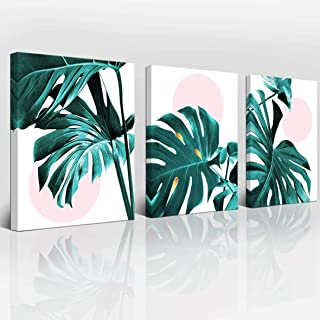 Wall Decoration Wall Art Bathroom Wall Decoration Bedroom Wall Art Small Fresh Leaves Plant Print Green Wall Art Canvas Bathroom Accessories Frame Wall Art Plant Wall Decoration 3 Panels Home Art