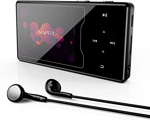 """MP3 Player with Bluetooth 5.0, BERENNIS 16GB Portable HiFi Lossless Sound 2.4"""" Large Screen Music Player with FM Radio Voice Recorder Video Player,..."""