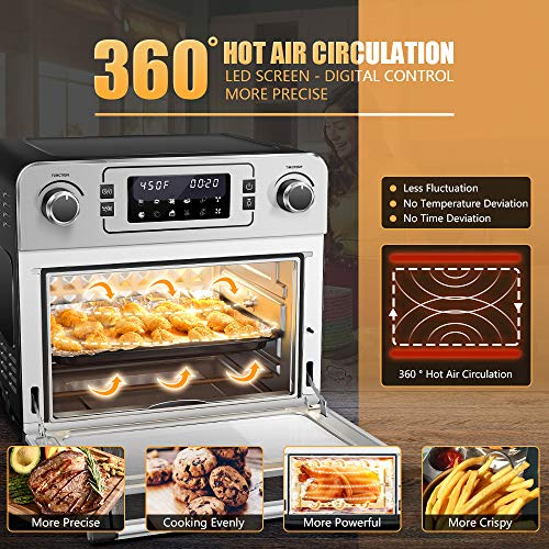 """Aobosi Toaster Oven Air Fryer Oven Toaster Convection Oven Digital Countertop Rotisserie Oven Pizza Oven 10-in-1 Multi-Function Toast/Roast/Broil/Bake/Dehydrate