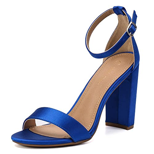 8b72418d451 Moda Chics Women s High Chunky Block Heel Pump Dress Sandals