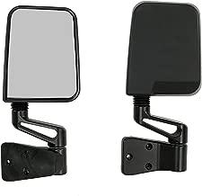 Rugged Ridge 11002.03 Factory Style Black Side Mirror - Pair