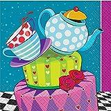 Fancy Me Cappellaio Matto Alice Tema Tea Party Compleanno Celebrazione Party Carta da tavola Decorazioni Accessori Foto Puntelli (tovaglioli)