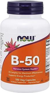 Now Foods Vitamin B, 50 mg 100 Veg Capsules
