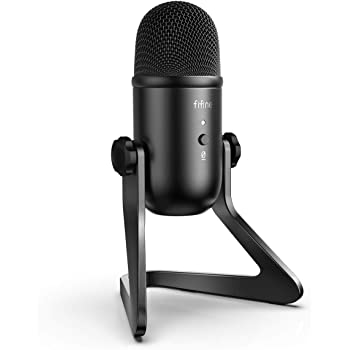 FIFINE USB Podcast Microphone for Recording Streaming on PC and Mac,Condenser Computer Gaming Mic for PS4.Headphone Output&Volume Control,Mic Gain Control,Mute Button for Vocal,YouTube.(K678)