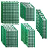 ELEGOO 32 Pcs Double Sided PCB Board Prototype Kit for DIY Soldering with 5 Sizes Compatib...