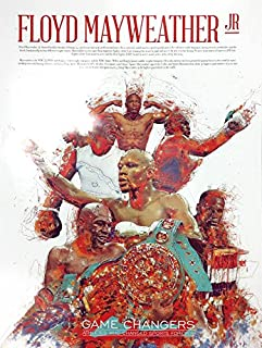 777 Tri-Seven Entertainment Floyd Mayweather Jr Poster Wall Art Print with Bio African American, 18