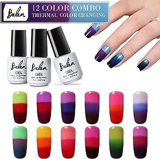 Nail Polish, Color Changing Gel Nail Polish Soak off LED UV Nail Art Varnish 12PCS Belen
